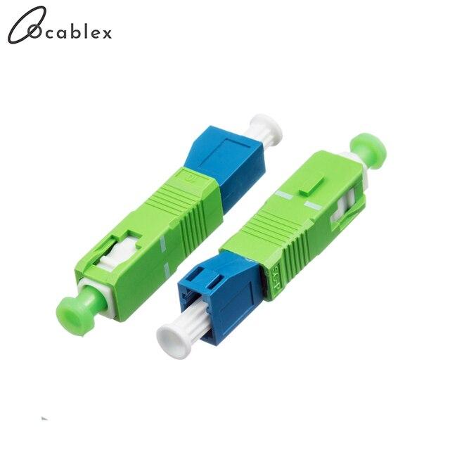 SC/APC LC/UPC Singlemode Optische Adapter SC Männlichen zu LC Weibliche Fiber Optic Adapter Freies Verschiffen