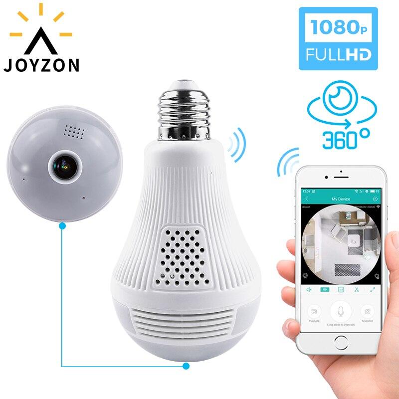 Joyzon светильник 1080P Беспроводная панорамная Домашняя безопасность WiFi CCTV рыбий глаз лампа ip-камера в форме лампы 360 градусов домашняя