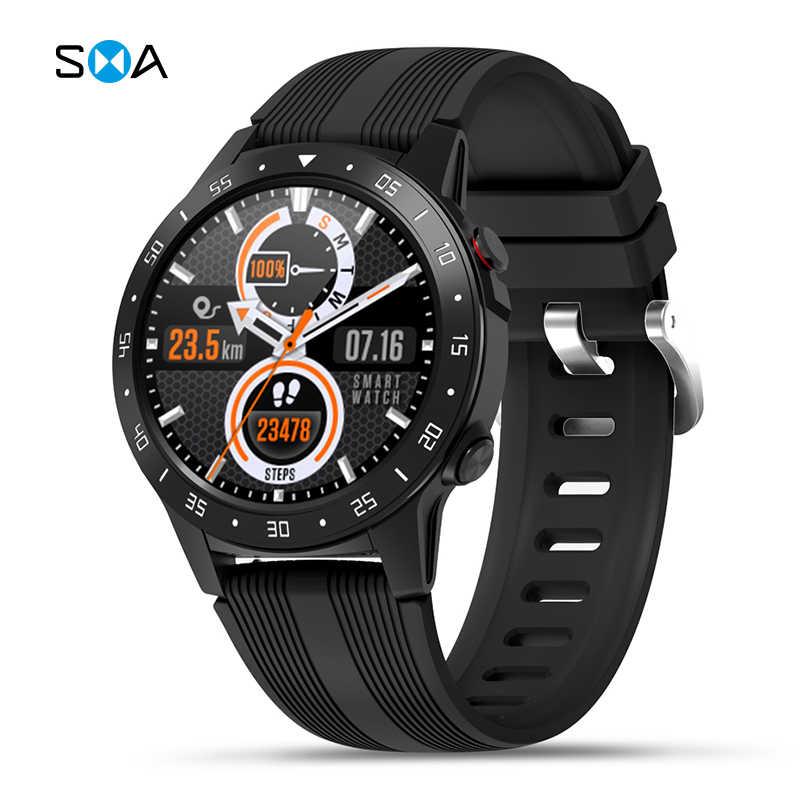 SMAWATCH M5C ساعة ذكية ساعة ذكية لتحديد المواقع الرجال 2020 البوصلة بارومتر الارتفاع في الهواء الطلق ساعة رجالي تعمل باللمس الكامل اللياقة البدنية ساعة ذكية