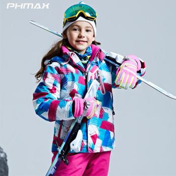 PHMAX Girls kurtka narciarska wiatroszczelna kurtka dla dzieci Outdoor Skating dla dzieci wodoodporna jazda na nartach odzież dla chłopca utrzymuj ciepło odzież do biegania tanie i dobre opinie Pasuje na mniejsze stopy niezwykle Proszę sprawdzić informacje o rozmiarach ze sklepu CN (pochodzenie) Chłopcy C-HXY-36