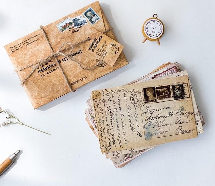 30Pcs/Pack Vintage Times Paper Postcard