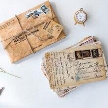 30 unids/pack Vintage veces postal de papel