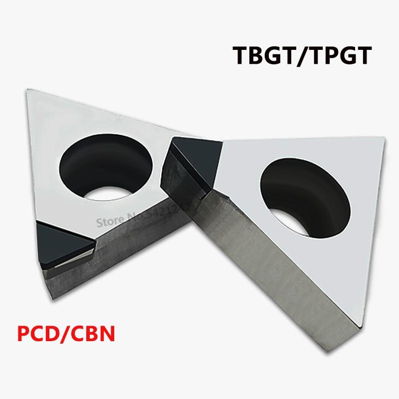 1PC TBGT060102 TPGT080204 TCGW16T302 PCD CBN CNC Lathe Diamond Insert TBGT TPGT TCGW High Hardness Cutter Blade CNC Lathe Tool