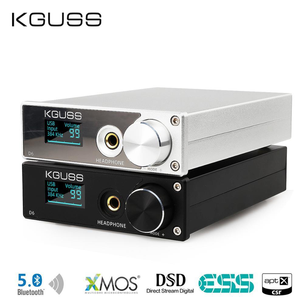 KGUSS D6 USB DAC XMOS ES9018K2M Audio Decoder DSD Bluetooth CSR8675 5.0 APT-X Headphone Amplifier