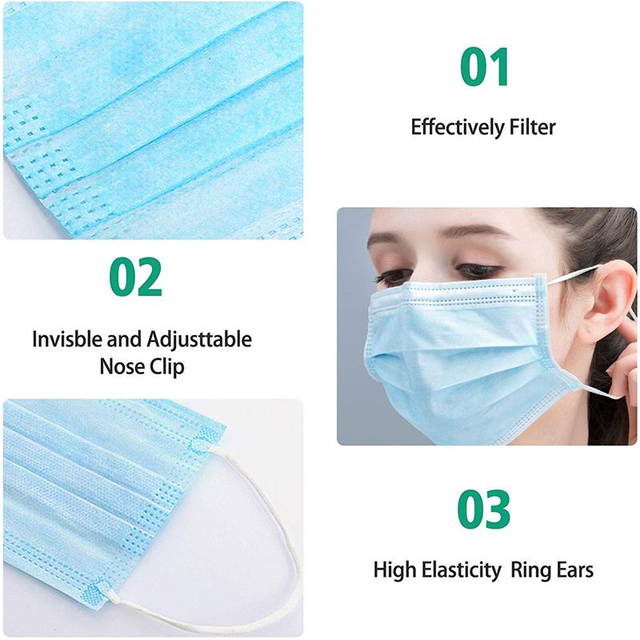 1*20pcs gas 3 Layer protective Disposable Earhook Masks Dust Mouth protection Face Mask flu facial filter shield Mask 20~100 pcs 3