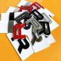 Bricolage ABS lettres L R emblème voiture style capot moyen et coffre Logo Badge autocollant noir mat argent gris rouge Chrome Fiber de carbone|Autocollants De Voiture| |  -