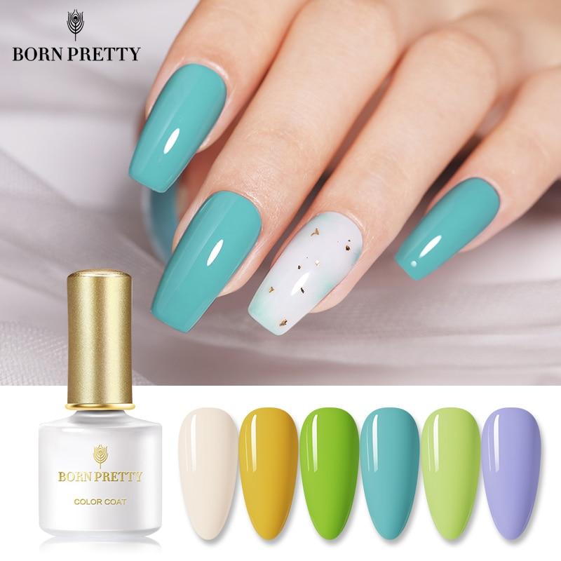 BORN PRETTY 50 Colors Pure-Color Nail Gel 6ml Fresh Colorful Spring And Summer Soak Off UV Nail Art Gel Polish Gel Varnish