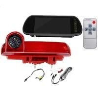 Visão traseira do carro luz de freio câmera de estacionamento invertendo câmera 8 led luz infravermelha noite visão câmera para opel vauxhall vivaro|Módulos de emissão/unidades de controle| |  -