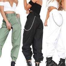 Streetwear Cargo Pants Women Casual Joggers Black High Waist Loose Female Trouse