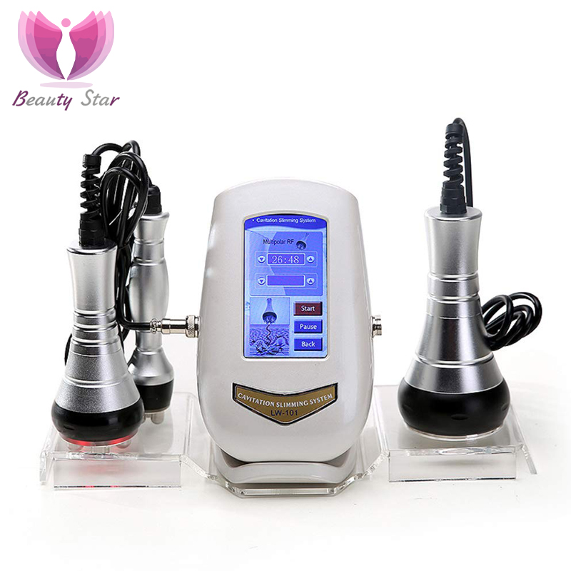 Beauty Star 40K Cavitation Ultrasonic Body Massage Machine Weight Loss Anti Cellulite RF Radio Frequency Facial Skin Tighten