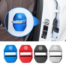 4Pcs Metal Car Door Lock Buckle Cover Decoration Accessories For FIAT 500 Grande Punto Astra Bravo Panda Tipo Stilo Freemont