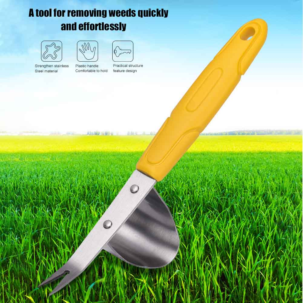 Garden Weeder Hand Cultivator Tool Outdoor Puller Digging Removal Fork Lawn Weed