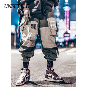 Image 4 - 2020 Japanse Kleur Zwart Zakken Cargo Broek Mannen Hip Hop Mannelijke Tatical Enkel Broek Joggers Casual Streetwear Broek