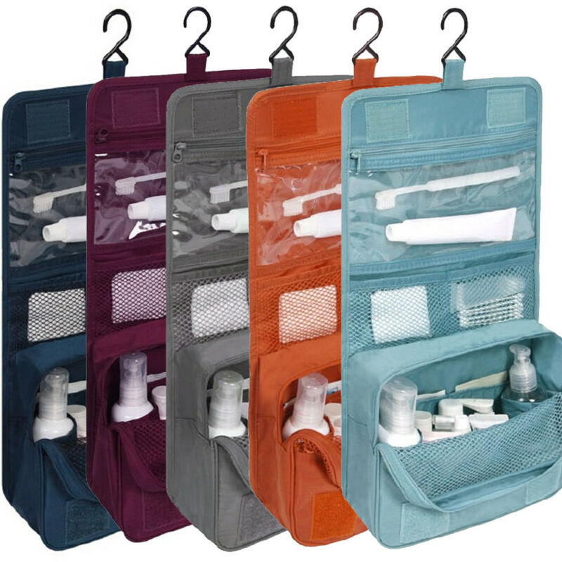 Travel cosmetic bag Women Makeup Bags Toiletries Organizer Waterproof Storage Neceser Hanging Bathroom Wash Black Blue Wine Bag