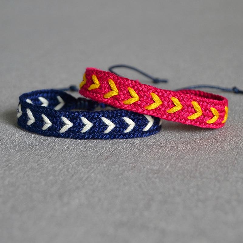 Bohemia Style Weave Rope Friendship Bracelets For Woman Men Cotton Handmade Charm Bracelet & Bangles Ethnic Jewelry Gifts
