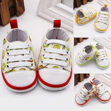 New Arrivals Infant Newborn Baby Girls Boy Bandage Prewalker Soft Sole Casual Shoes(China)