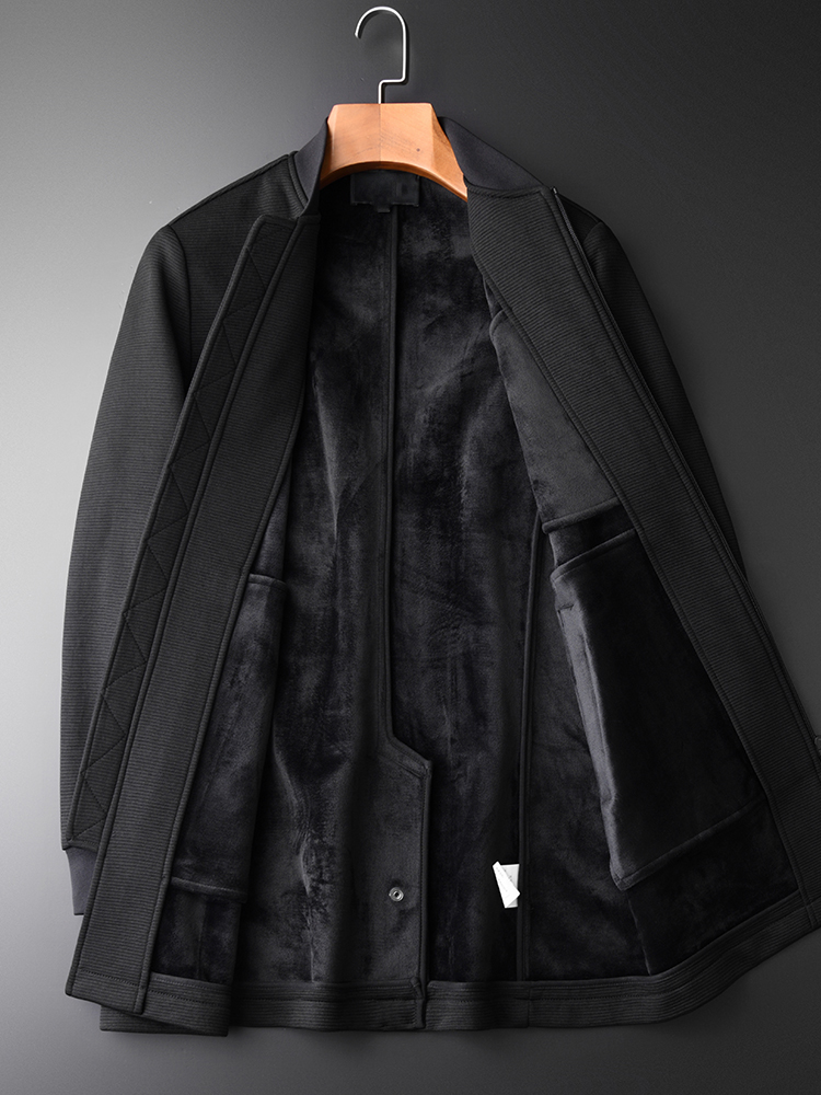 Inner Pleuche Add Men Hight Quality Long Style Stand Collar Mens Coats And Jackets Plus Size 4xl Casual Man Coat
