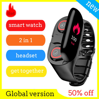 M1 Smart Bracelet with headset 2 in 1 wireless earphone  smart watch Bluetooth 5.0 Wristband Fitness Tracker Headphone Watch Set