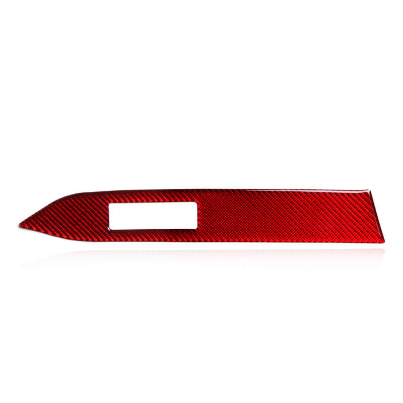 Red Carbon Fiber car Instrument Panel Decorative Strip Sticker For Ford <font><b>Mustang</b></font> <font><b>2015</b></font> Car <font><b>accessories</b></font> Car stickers image