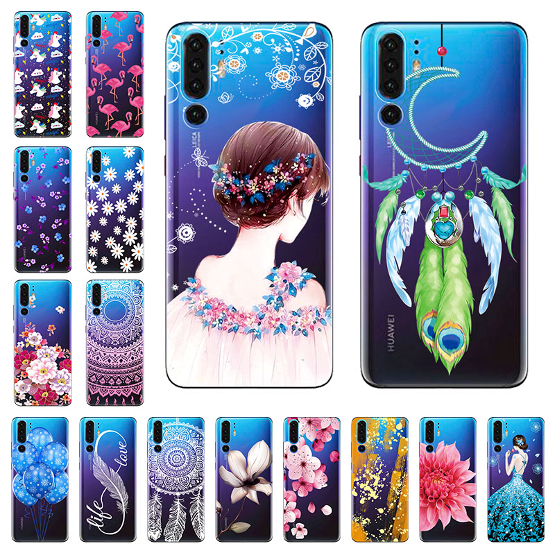 Phone Case for Huawei P30 <font><b>Lite</b></font> Case Silicone Soft Cover Transparent Clear Bumper Shockproof Case for Huawei P30 Pro <font><b>P</b></font> <font><b>30</b></font> Bags image
