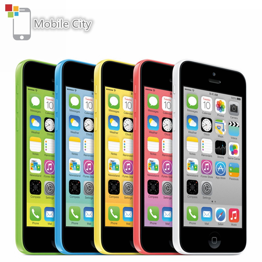 "Entsperrt Apple iPhone 5C Dual Core 4,0 ""8MP Handy 8 GB/16 GB/32 GB ROM apple IOS WiFi GPS WCDMA 3G Original Verwendet Smartphone"