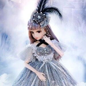 Модные куклы для девочек, 60 см, большая Оригинальная кукла ручной работы 1/3, полный комплект, 18 шарнирных кукол для девочек, игрушки для детей...