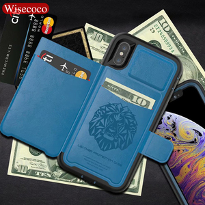 Image 1 - SE 2020 Роскошный многофункциональный чехол кошелек для IPhone 12 Mini 11 Pro Xs Max Xr X 8 7 6s Plus, кожаный силиконовый Жесткий Чехол для задней панели