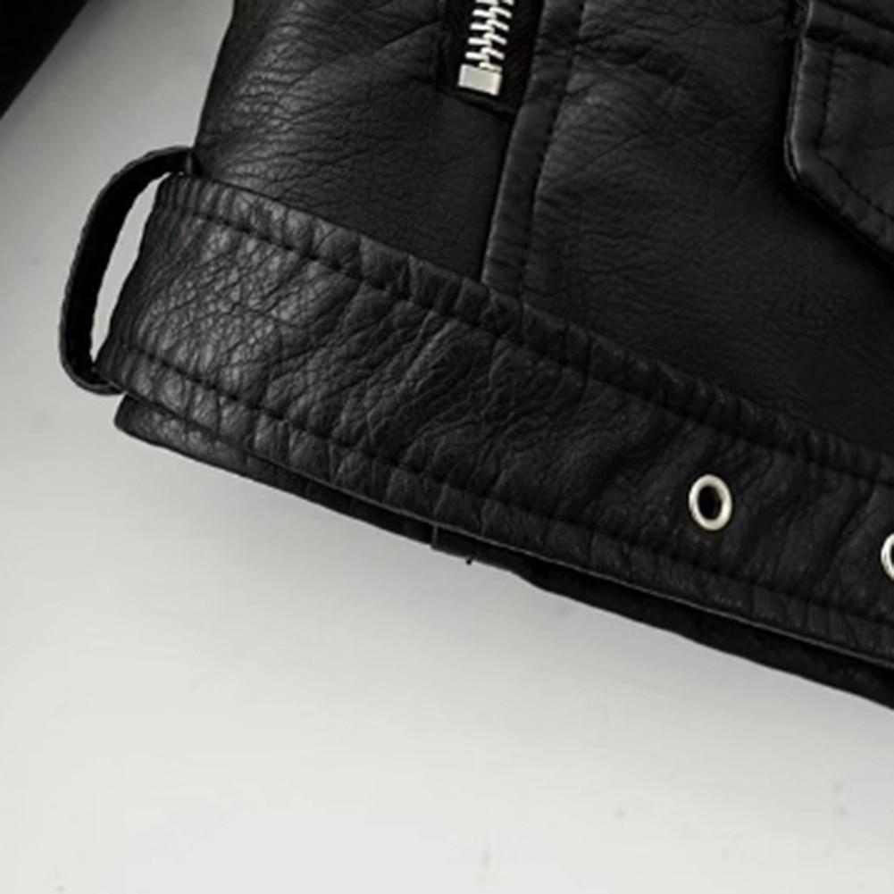 Hb8fe2e99bb8b4e3bb15ea8af1a585ab8G Fashion Punk Women Coat Jacket Leather Long Sleeve Lapel Zipper Button Motorcycle Jacket Short Coat For Women's Clothings