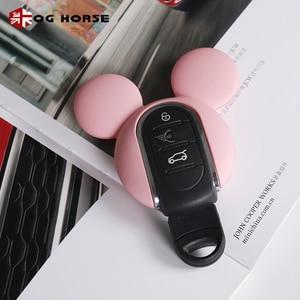 Image 5 - Xe Móc Khóa Trang Trí Thời Trang Nữ Chìa Khóa Da Ốp Lưng Hello Kitty Miky Tạo Kiểu Phụ Kiện Mini Cooper S F54 F55 F56 f57 F60