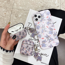 Cute cartoon Bunny rabbit case for Apple airpods 1 2 Pro Earphone case For iphone 12 12Pro 11 11Pro X XR XS 7 8Plus SE cover