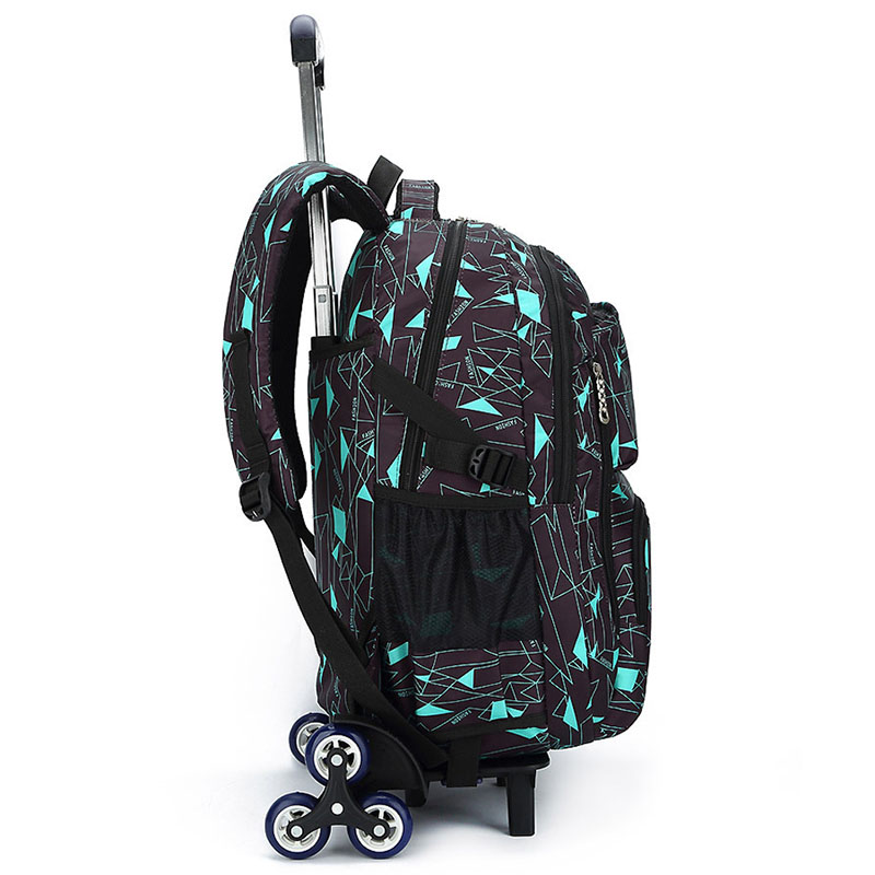 ZIRANYU Kids boys girls Trolley Schoolbag Luggage Book Bags Backpack Latest Removable Children School Bags 2/6 Wheels Stairs