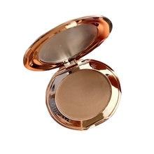 Palette de poudre bronzante ombre pressée, maquillage pour contour du visage, cosmétique, ligne de cheveux, couleur foncée et claire