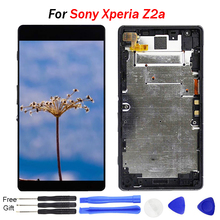 For Sony Xperia Z2a Screen Z2 a LCD Display Touch Screen Digitizer Assembly Replacement New 5.0 inch for Sony Z2a ZL2 ZL 2 LCD the new group hit a 7 inch lcd screen a at070tn90 92 93 long cable car dvd navigation with touch screen