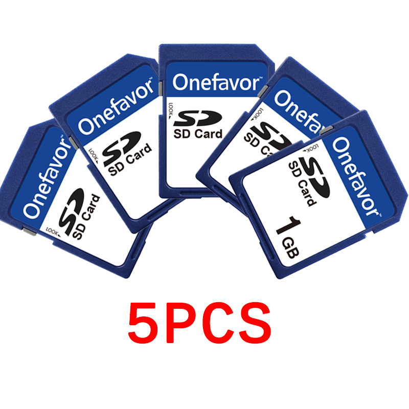 Activity Price! ! !5pcs/lot 1GB Onefavor SD Card Secure Digital Standard SD Memory Card High Quality Camera Memory Card