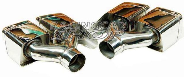 S63 S65 AMG STYLE Dual Exhaust Tips Pipes Fit For Mercedes Benz W212 E350 E500 E550 E63 W221 W166 W204 1PAIR M121W 5