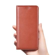 Litchi Grain Genuine Leather Flip Case For OPPO Reno 2z 10X ZooM F11 Pro R19 Realme X K3 Realme5 Pro Cell Phone Cover
