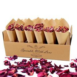 QIFU Flower Confetti Cone Holder Paper Cone Romantic Wedding Party Decor Weeding Decor for Weddings Rustic Weding Table Decor