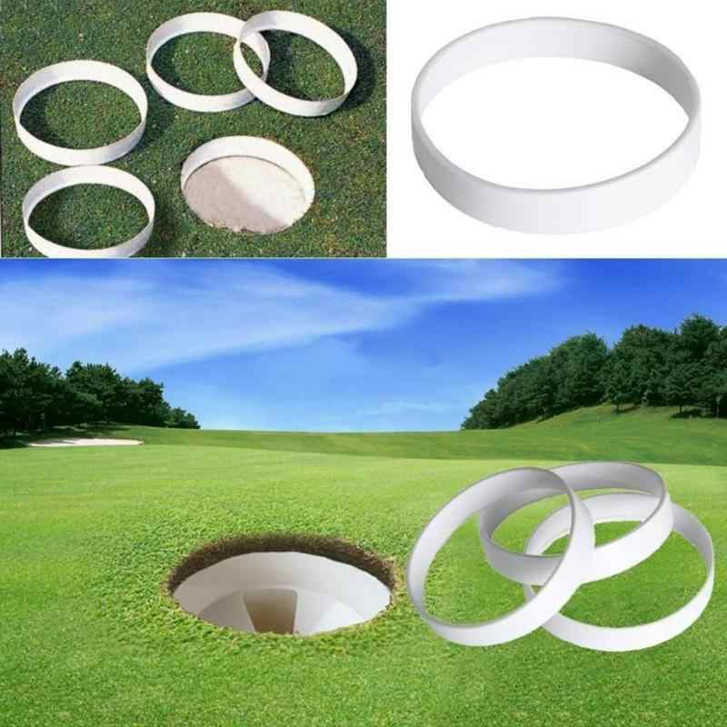 1pc Wit Plastic Golf Putting Green Hole Cup Ring Training Aid Accessoire Golf Veld buitensporten Apparatuur Achtertuin Praktijk