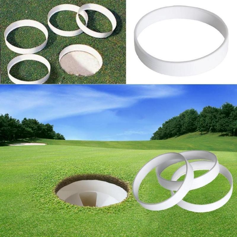 1pc White Plastic Golf Putting Green Hole Cup Ring Training Aid Accessory Golf Field Outdoor Sports Equipment Backyard Practice