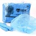 100 шт. одноразовая Нетканая прокладка шляпа отель пыли Кепки сине-белые душ Кепки удобные простые однотонные шапки