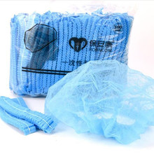 100 pces descartáveis não-tecido strip hat hotel workshop tampão de poeira azul branco touca de chuveiro conveniente simples chapéus de cor sólida