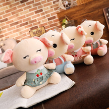 1pc 22cm cute pig plush toy soft-filled couple pig cartoon animal doll car pendant baby comfort sleeping toy child best gift 164 baby pig pig walks