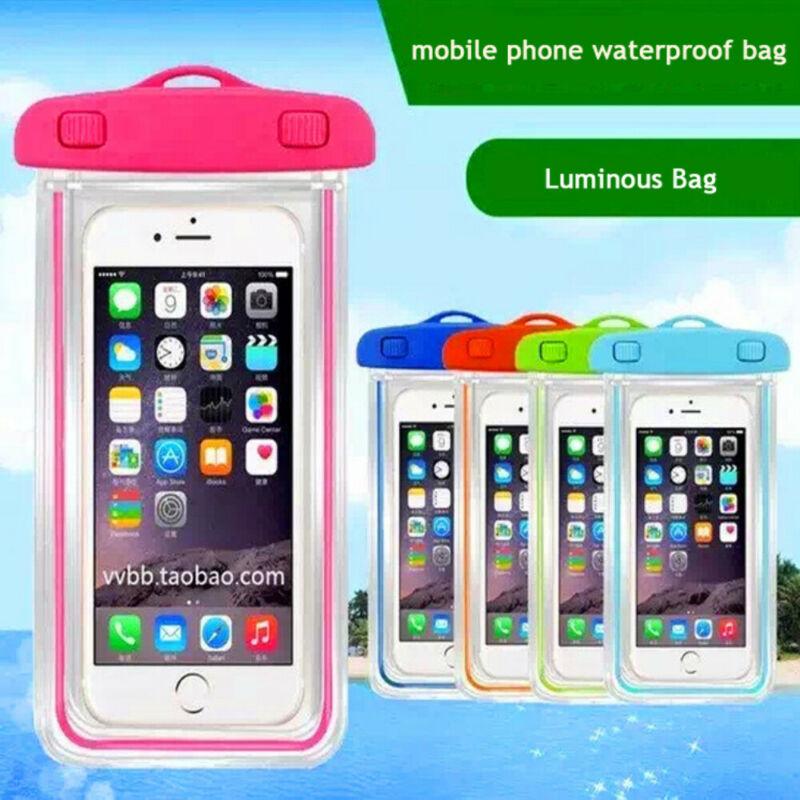 Luminous Waterproof Mobile Phone Bag Swim Underwater Pouch Dry Bag Case Cover Call Bag For Iphone 10 11 Plus Samsung LG Xiaomi