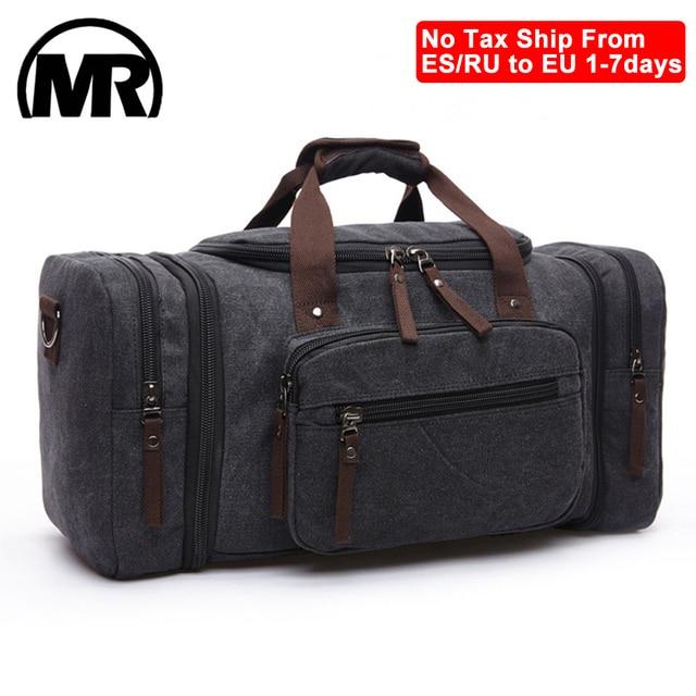 Markroyal lona sacos de viagem grande capacidade carry on sacos de bagagem dos homens mochila de viagem tote fim de semana saco dropshipping 1