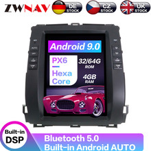 Carplay DSP Android 9.0 PX6 Vertical Tesla Radio Car Multimedia Player GPS For Toyota Land Cruiser Prado/Lexus GX470 2002-2009 carplay dsp android 9 0 px6 vertical tesla radio car multimedia player stereo gps navigation for land cruiser lc100 2002 2007