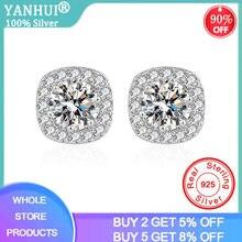Yanhui 2020 Новая мода 925 стерлингового серебра круглые стразы