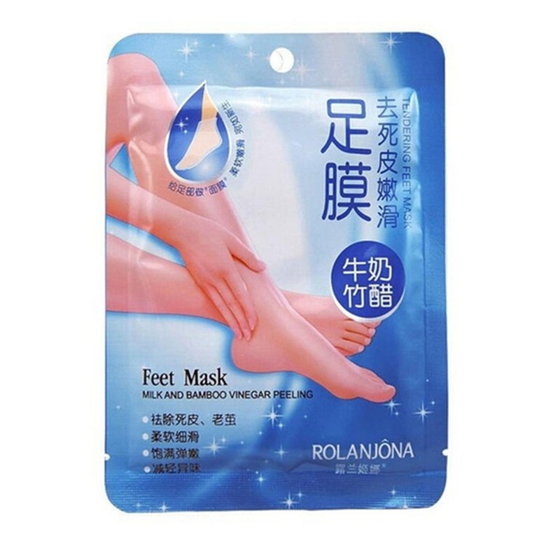 2pc=1pair Exfoliating Foot Mask Pedicure Socks Exfoliation For Feet Mask Remove Dead Skin Heels Foot Peeling Mask For Feet Care