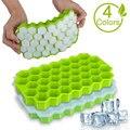 SILIKOLOVE Вафельная Ткань подносы кубика льда с съемные крышки из силикагеля для хоккея на льду кубическая форма без добавления бисфенола А
