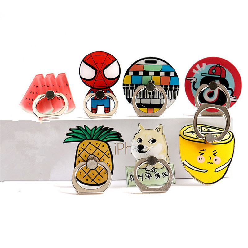 Finger Ring Bracket Suprate Celular For IPhone New Phone Ring Bracket Mobile Phone Stand Vertical Fruit Cartoon Table