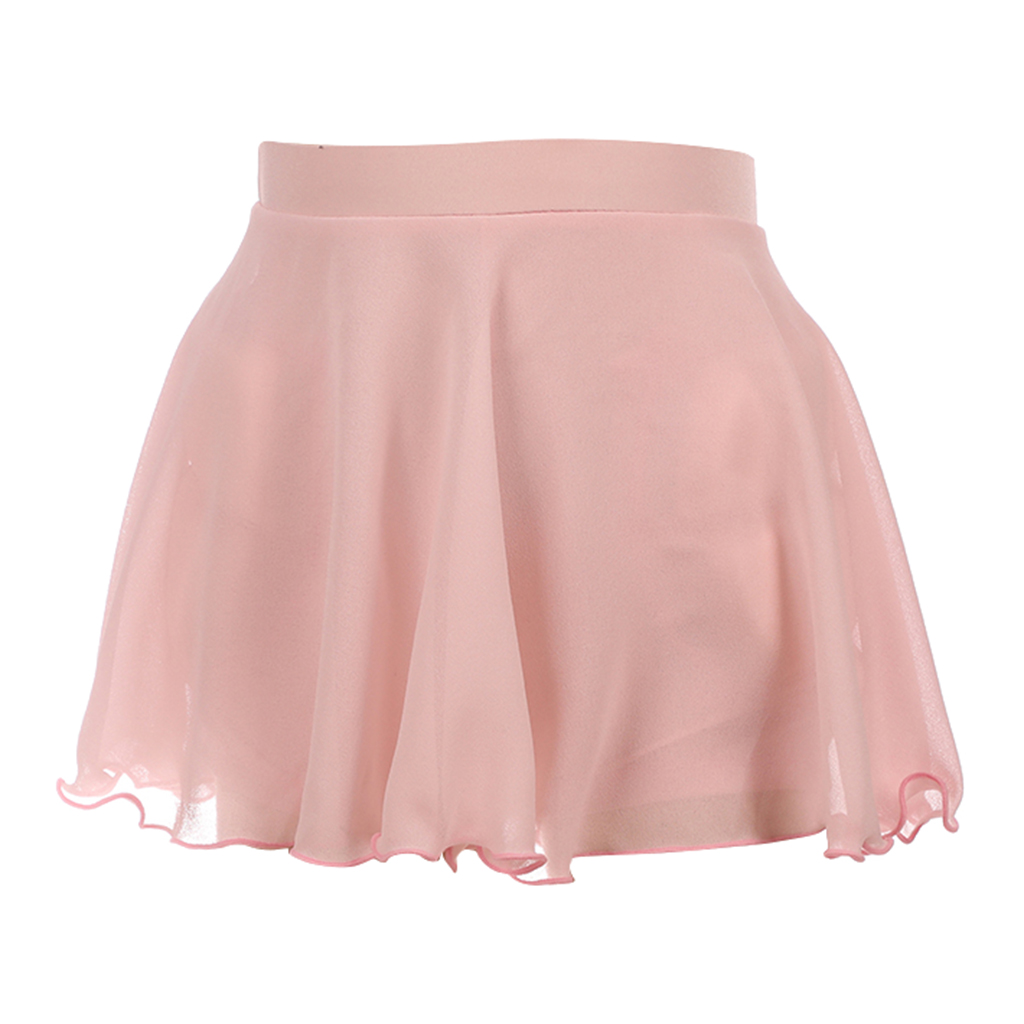 Pink Ice Skating/Dance Skirt Short Skirts Ice Skating Protective Clothing For Hip With Liner Shorts